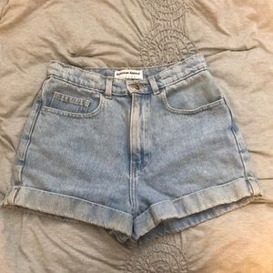 American Apparel High-Waist Denim Shorts
